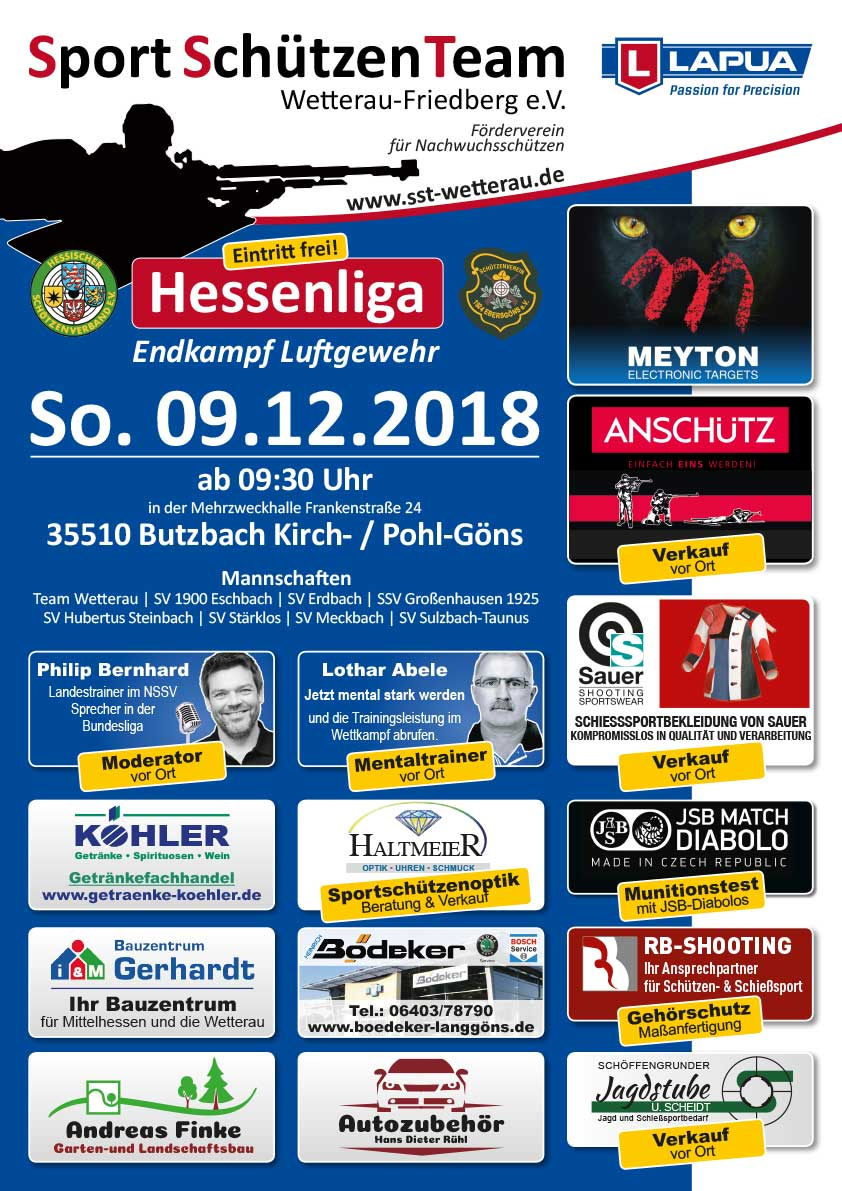 Team Wetterau Hessenliga Luftgewehr Endkampf 2018